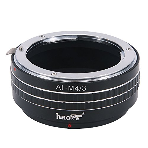 Haoge Manual Lens Mount Adapter for Nikon Nikkor F/AI/AIS/D Mount Lens to Olympus and Panasonic Micro Four Thirds MFT M4/3 M43 Mount Camera