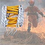 GAOWF Scala della Scala della Corda antincendio, Scale di rifugio di Emergenza con Gancio per Gli Adulti Bambini, Resistenti all'Usura, Portatile per operazioni ad Alta Quota Allenamento all'aperto