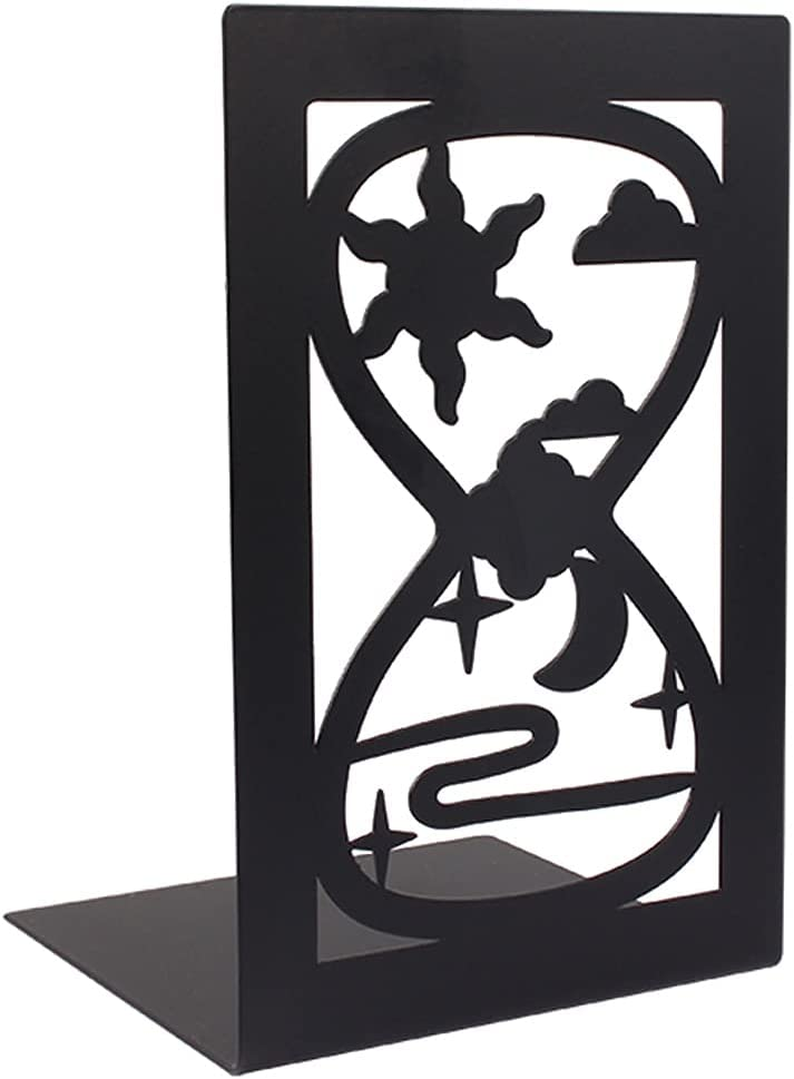 Free shipping anywhere in Super-cheap the nation XILIN-1987 Bookends Wrought Iron Bookend Bookshelf Stud