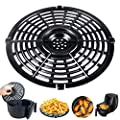 Air Fryer Accessories Grill Pan For Power Gowise 5QT-6QT Air Fryers, Steamer Rack, Crisper Plate, Air fryer Replacement, Non-Stick Fry Pan, Dishwasher Safe
