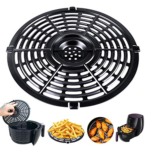 Air Fryer Accessories Grill Pan For Power Gowise 5QT Air Fryers, Steamer Rack, Crisper Plate, Air fryer Replacement, Non-Stick Fry Pan, Dishwasher Safe