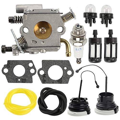 Butom C1Q-S126B Carburetor Carb for MS200 MS200T 020T MS 200 MS 200T Chainsaw Replace 1129 120 0653 with Fuel Filter Line Cap