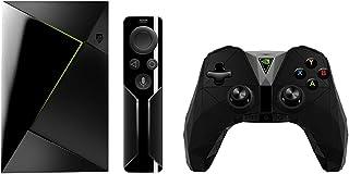 Nvidia Shield TV - Reproductor de streaming para jugadores + Mando inalámbrico, resolución 4K HDR, memoria interna de 16 GB, 3 GB de RAM, Android 7.0, negro