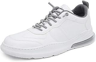 Abimy - Scarpe da ginnastica in pelle PU, suola in gomma antiscivolo, scarpe sportive da uomo