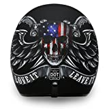 Daytona Helmets Motorcycle Open Face Helmet Cruiser- Love It 100% DOT Approved