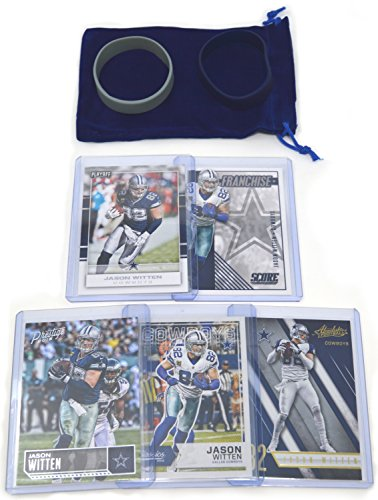 Jason Witten Football Cards Gift Bundle - Dallas Cowboys (5) Assorted Trading Cards