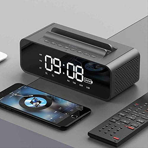 MHKBD Bluetooth Altavoz Sound Box Profesional Pantalla Led Inalámbrica Inteligente Reloj Despertador...