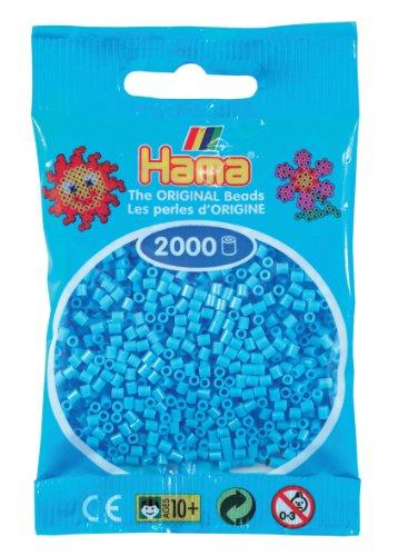 Hama - Confezione da 2000 perline da stirare, plastica, Bleu Pastel - 46