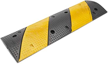 PrimeMatik - Cable floor cover protector trunking rubber bumper 1 way 99 x 30 cm with speed hump
