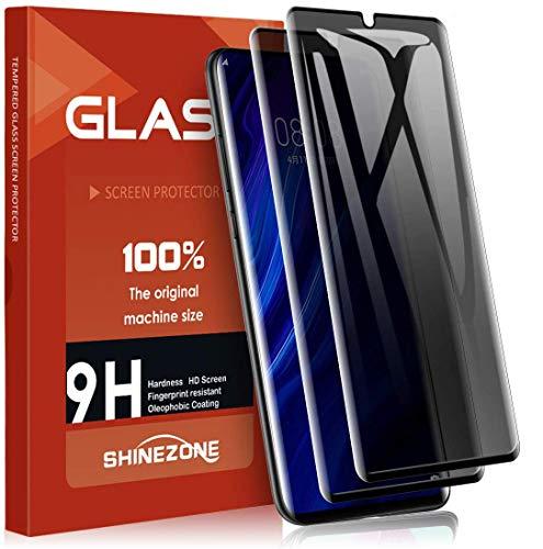 SHINEZONE Panzerglas für Huawei P30 Pro, Anti-Spähen (2 Stück[3D-Vollabdeckung] [Case Friendly] [9H] Härte Anti-Kratzen Schutzfolie, Privacy Panzerglas Anti-Spy Displayschutzglas für P30 Pro
