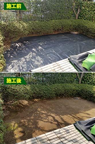 GARDENIAプロも認めた防草シート1mx10m除草シート雑草シート濃緑色通水性耐用年数がさらにアップ(2)