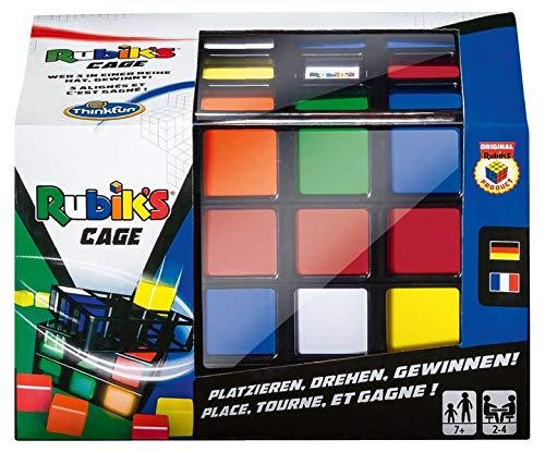 ThinkFun 76392 - Rubik's Cage, das erste original Rubik's Spiel für die ganze Familie. Ein dreidimensionales TicTacToe für bis zu 4 Spieler ab 8 Jahren.