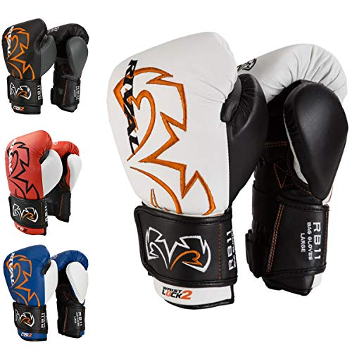 RIVAL Boxing Evolution Hook and Loop Bag Gloves - Medium - White