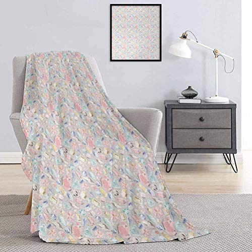 Toopeek Circus Decor Children's blanket Village Hill with Circus Tents Lightweight soft warm and comfortable W60 x L70 Inch Balloonsa Ferris Wheel Rainbow Daisies
