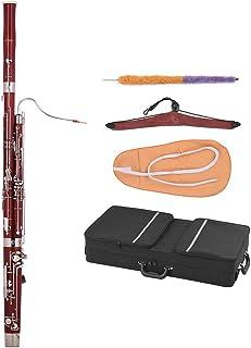 ammoon Cキー バズーンメープルウッド 白銅シルバーメッキキー プロ木管楽器 リード クリーニングクロス キャリングケース付き