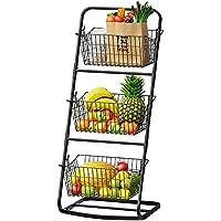 Display 3 Tier Fruit Vegetable Produce Metal Hanging Storage Bin