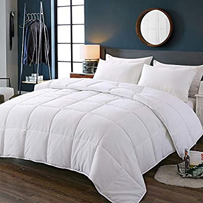 Decroom White Comforter Queen Full Size, Down A...