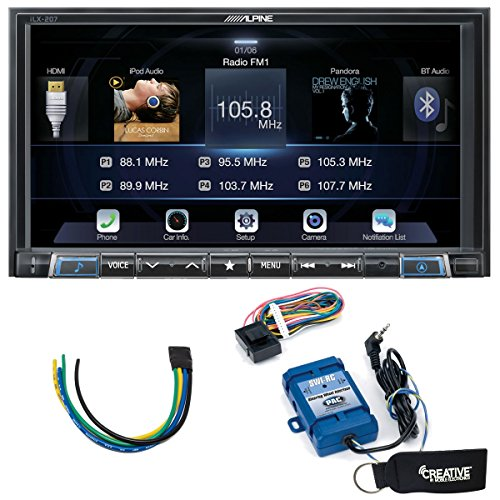 Alpine iLX-207 for Apple Car Play & Android Auto Receiver With Steering Wheel Control Interface & Trigger Module