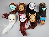 CHENGYIDA Set di 9 pezzi Bambola Sostituire Testine Per Mostro Alta Fright, Elissabat Doll,Monster High Freaky Fusion Dracubecca Doll