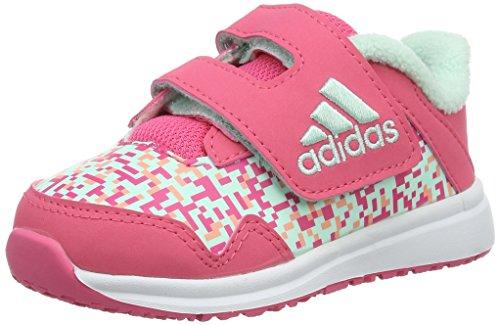 adidas Snice 4 CF I, Zapatos de bebé (1-10 Meses) para Bebés, Rosa (Rosbah/Verhie/Ftwbla), 27 EU
