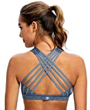 Best Back Support Bras - QUEENIEKE Women's Medium Support Strappy Back Energy Sport Review