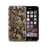 Cujas iPhone 6S / 6 Hülle, Weiche Camouflage Silikon Schutzhülle Blickdicht mit IMD-Technologie Camo Militär Muster Case Schutz Handyhülle (iPhone 6S / 6 Grün)