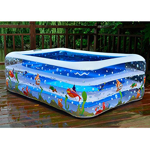 eaz Piscina inflable para niños con centro de natación, piscina inflable para niños, uso en el hogar, piscina para niños de tamaño grande (color: 110 x 88 x 33 cm)