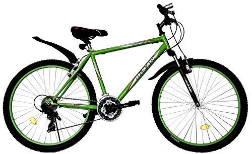 T 26 Zoll Kinder Jugend Mädchen Herren Jungen Damen MTB Fahrrad Mountainbike FEDERGABEL JUGENDFAHRRAD KINDERFAHRRAD Bike Rad 21 Gang Beleuchtung STVO 4200 GRÜN