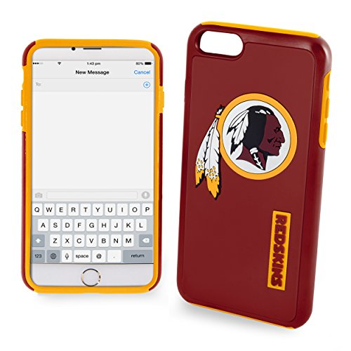 Forever Collectibles NFL Washington Redskins Auswirkungen TPU 2teilige Dual Hybrid iPhone 7/6/6S Cover–11,9cm Bildschirm nur