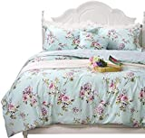 FADFAY French Country Farmhouse Bedding Fashionable Hydrangea and Rose Floral...