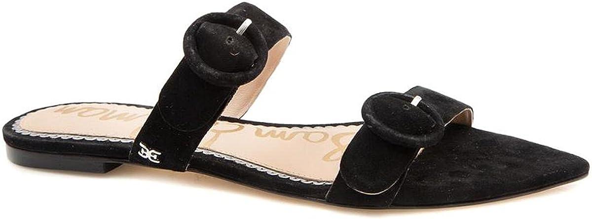 Sam Edelman Larue Slip On Flat Slide Sandals Black Suede Mule