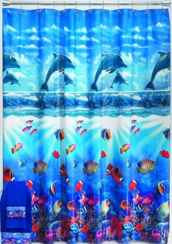 Dolphin Cove Vinyl Shower Curtain