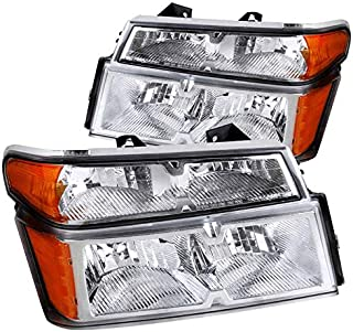 For Chevy Colorado GMC Canyon Crystal Clear Headlights 4PC+Bumper Turn Corner Lamps