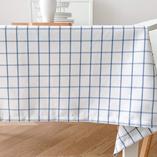 Katoenen tafelkleed, linnen, tafelkleed/tafelkleed/tafelkleed/tafelkleed, waterdicht, anti-fouling (ronde tafel) 140*140cm 5mmDual-C402D