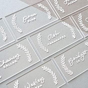 UNIQOOO 20pcs Clear Acrylic Place Cards for Wedding – Blank Rectangle Acrylic Escort Plates Name Cards - Perfect for Seating Cards,Table Card,Food Sign Party Banquet & Event Decoration - 3 1/2 x 2in