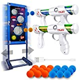 Kaufam Moving Target Shooting Gun Toy for Boys Age of 5 6 7 8 9 10 10+ Years Old Kids Girls for Christmas Birthday Children's Day with 2 Blaster Gun and 18 Foam Balls, Compatible with NERF Gun