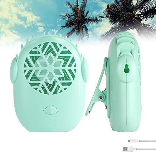 SYTUAM Mini Ventilador Portátil 3 Velocidades USB Ventilador Pequeño Con Clip y Cordón, Ventilador Personal Portátil Ultraligero Aire Acondicionado Extensión de Pestañas para Viajes, Fitness