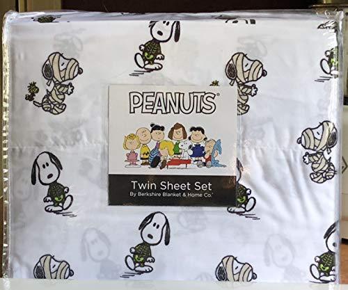 burkshire Peanuts Snoopy - Juego de sábanas para Halloween, tamaño Doble