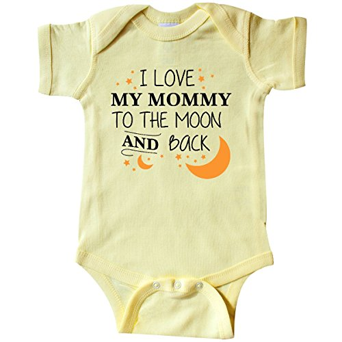 inktastic I Love My Mommy to The Moon and Infant Creeper Newborn Banana Yellow