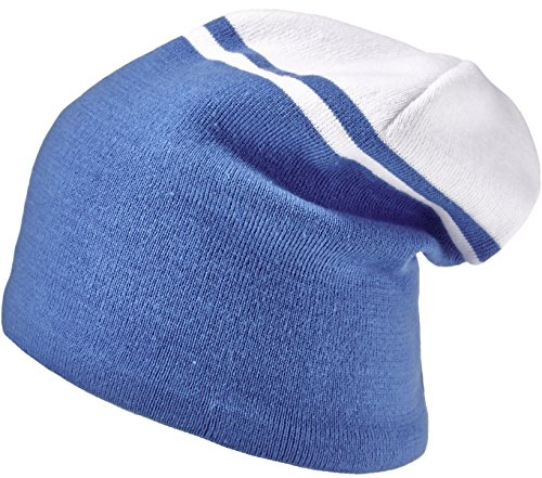 Areco czapka dla dorosłych Beanie, niebiesko-biała, jeden rozmiar