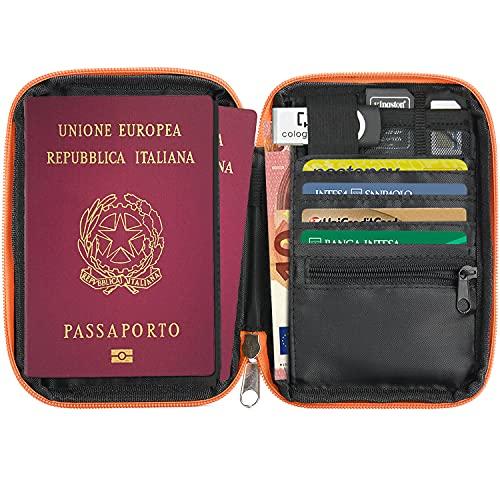 Porte-Passeport Compact RFID de Voyage Portefeuille 6...