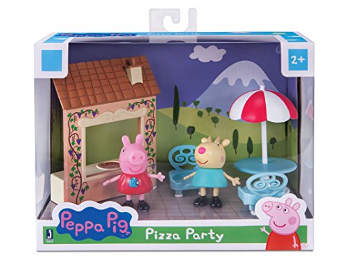 Zoofy International Peppa Pig Pizza Party Figure Playset