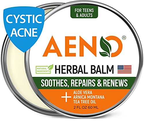 Cystic Acne Treatment and Acne Scar Remover - Made in USA - Effective Face & Body Severe Acne Cleanser with Tea Tree Oil - Prevent Future Breakouts - Natural Acne Balm, Pimple Cream - 2 fl.oz