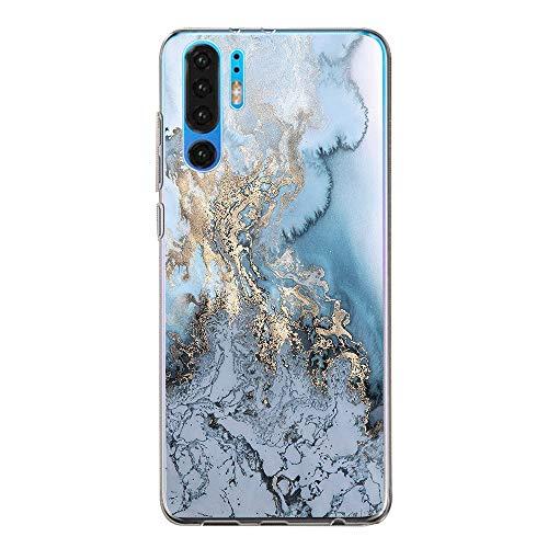 3Ciker für Huawei P30 Hülle Soft Clear Handyhülle Ultra Dünn Durchsichtige Transparent Crystal TPU Blume Case Schutzhülle for P30 Pro (A, Huawei P30)