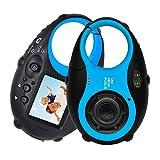 Ishare Kids Camera Cute Camera 12MP 4× Digital Zoom, Digital Kids Camera with Video, Mini Kids Camera with Photo Frame for Girls and Boys, (Blue)