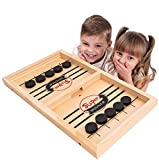 Jeu de rondelle de fronde rapide, pare-chocs d'échecs de catapulte 2 en 1 Slingshot Table gagnant de hockey sur glace jeu de société jouet pour Parent-enfant