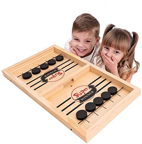 Schnelles Sling Puck Spiel, Katapult Schachpuffer 2 in 1 Schleudertisch Eishockey Gewinner Brettspiel Spielspielzeug für Eltern-Kind