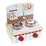 My Play Juego de Juguetes para niños, Juego de Cocina de Madera con cacerolas y Utensilios para Mayores de 3 años (Juego de Cocina con sartenes)