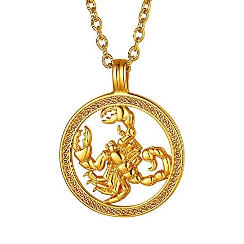 Collar de Escorpio bañado en oro