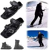 SOAR Raquetas Nieve Mini Patines de esquí para la Nieve, para la Nieve The Short Skiboard Snowblades Skiking Ajustable Trineo, para Hombres Mujeres Universal Sports Ski Shoes